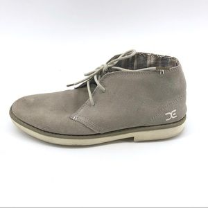 Men's Hey Dude Chukka Boots 10 Grey Suede Leather